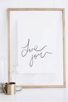 """Olive et Oriel """"Love You"""" Print"""