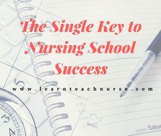 The Single Key to Nursing School Success Nursing Classes, Nurse Practitioner, Nicu, Dream Job, Improve Yourself, Journey, Success, Key, Teaching