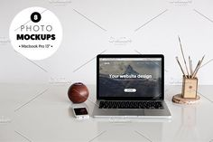 MacBook Pro - 8 photo mockups by show it better on @creativemarket