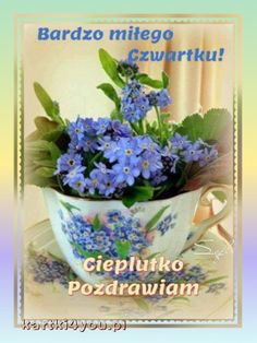 Good Morning, Planter Pots, Tableware, Thursday, Buen Dia, Dinnerware, Bonjour, Tablewares, Dishes