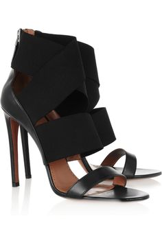 Alaïa|Leather and stretch sandals.  Such sexy shoes.  Best paired with something leg-baring.