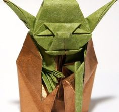 Fold this origami version of Yoda by following these YouTube instructions for a desk prop any Star Wars fan will love. Source: YouTube user Jo Nakashima #maythefourthbewithyou