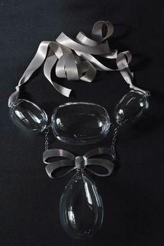 "Anna Rikkinen, ""Glass"" necklace, 2012. #finland | finlandjewelry.com"