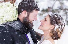 Wedding in the snow in Colorado