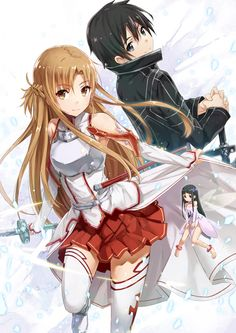 Sword art online Kirito and Asuna-my top 2 favourite characters from this show.
