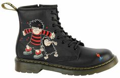 Limited edition Dennis the Menace Doc Martens boots. My mother is on a mission to get these for the kids!