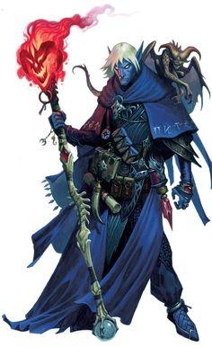 m Drow Elf Wizard Quasit Familiar Staff Magic Book Scroll Cloak midlvl underdark sewer urban jungle