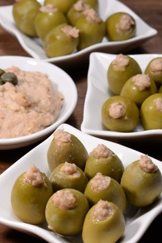 Maltese Stuffed Olives Zebbug Mimli International Cuisine - Maltese Stuffed Olives Called Zebbug Mimli Are A Lovely Little Snack Or Appetizer These Stuffed Green Olives Can Be Found At Nearly Every Festive Occasion They Can Be Served By Themselves Or With Malta Food, Stuffed Olives, Mojito, Food Processor Recipes, Vodka, Appetizers, Appetizer Recipes, Cooking Recipes, Diet Recipes