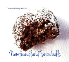 """Soft, chewy, chocolatey, oatmealy, coconutty, fudgey goodness! These """"Snowballs"""" are a Newfoundland ICON! You're probably thinking why am I sharing this recipe during the summer …"""