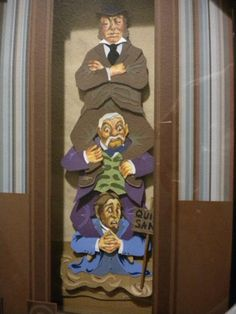 *THE HAUNTED MANSION, 2003 ~ Amazing hand made Haunted Mansion stretching portrait shadow box art