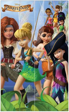Tinker Bell and The Pirate Fairy Tinkerbell And Friends, Tinkerbell Party, Disney Fairies, Hades Disney, Walt Disney, Disney Cartoons, Disney Movies, Disney Characters, Pirate Fairy Party