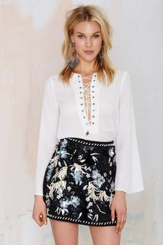Nasty Gal Night Escape Hand Beaded Skirt for a stylish touch of class.