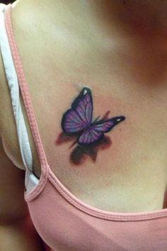 3D butterfly tattoo 6 - 65 3D butterfly tattoos  <3 <3