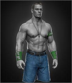ArtStation - John Cena done for WWE, Hossein Diba❤👌🙋! John Cena Pictures, Wwe Pictures, Wwe Lucha, Jone Cena, Les Sopranos, Catch, Wrestling Superstars, Mr Men, Aj Styles