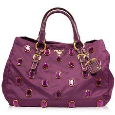 Prada Black Nylon \u0026amp; Leather Bag http://www.consignofthetimes.com ...