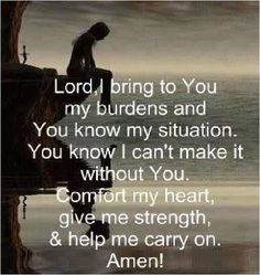 Help me carry on.