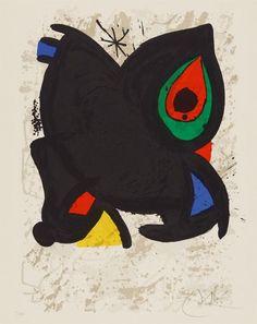 """Joan Miró """"Grand Palais"""" Litografía Año: 1980 Dimensiones: 65 x 52 cm Tirada de 100 ejemplares Firmada y numerada a mano Certificada por la Fundació Joan Miró Maeght 942 Precio: Consultar web  Más información: galeria@grabadosylitografias.com"""