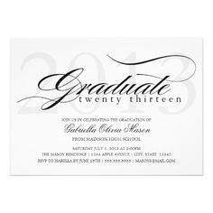 Graduation Announcements to Leave Your Class with Class These elegant graduation announcements and invitations are sure to make a lasting impression. Senior Graduation Invitations, Graduation Year, Graduation Party Supplies, Graduation Announcements, Graduation Cards, Grad Parties, Invitation Cards, Invites, Custom Invitations