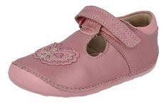 c24e24086b0 Clarks Girls Pre-School Ida Sweet Leather Shoes In Pink Standard Fit Size 5