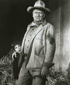 John Wayne in Big Jake w/his son Ethan Wayne.