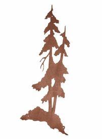 42 Tall Pine Trees Metal Wall Art