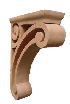 "Classic Plain Corbel with Alder, Red Oak, Hard Maple, Cherry / 10""HX2""WX7""D - bar corbel, mermaid corbels, buy corbels, gothic corbels, cheap corbels, inexpensive corbels, buy corbels, discount corbels | Corbel Place"