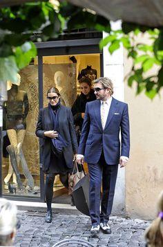 Simon Le Bon and Family in Rome