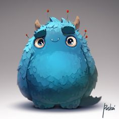 36 Ideas For Funny Illustration Character Art Monster Art, Monster Concept Art, Monster Design, Monster Characters, Cute Characters, Cartoon Characters, Art And Illustration, Cute Monster Illustration, Character Concept