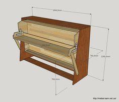 Трансформер кровать-стол из фанеры своими руками.