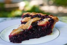 The best blackberry pie ever. No kidding. All butter crust, loads of blackberries, spiced with a little lemon, cinnamon, and almond extract. Yum.