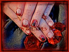 Red Devil by gelnailzbytalia from Nail Art Gallery Nail Art Galleries, Nails Magazine, Devil, Gel Nails, Class Ring, Heart Ring, Dots, Wedding Rings, Engagement Rings