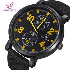 Men sport watch 2015 fashion brand V6 army watches natural straps waterproof quartz analog new arrival high quality wristwatch