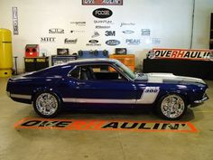 1970 Boss 302 Mustang Fastback Designed by Chip Foose Mustang Fastback, Mustang Cars, Ford Mustangs, Shelby Gt500, Blue Mustang, Old Muscle Cars, American Muscle Cars, Classic Car Show, Classic Cars