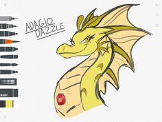 Adagio- Siren iPad Sketch by DragonMaster137