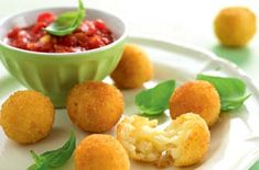 Annabel Karmel's arancini rice balls with tomato sauce recipe - goodtoknow