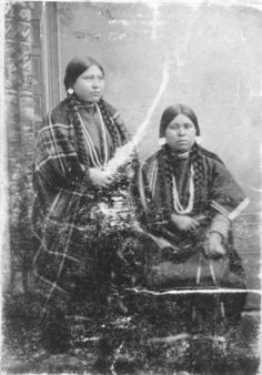 Agatha Samuels and Unidentified Female Adult :: National Park Service (NPS) Nez Perce Historic Images Collection