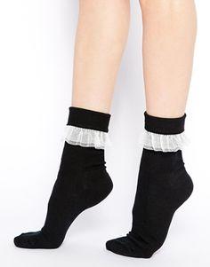 American apparel girly lace socks