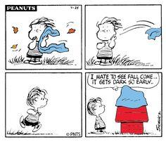 PEANUTS Cartoon...Just for Fall/Autumn...LOL...Snoopy &