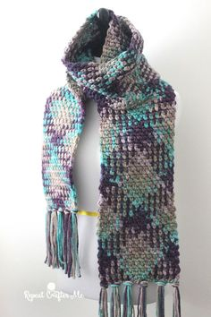 Crochet color pooling tutorial