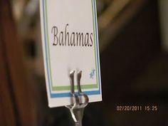 Island table names for Beach themed wedding