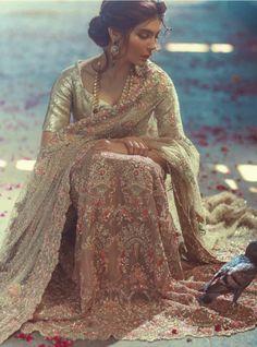 Zara Shahjahan, Rahgeer (Traveller), F/W 2015 (Desi Bridal Shaadi Indian Pakistani Wedding Mehndi Walima Lehenga / Pakistani Wedding Dresses, Pakistani Bridal, Pakistani Outfits, Indian Bridal, Indian Dresses, Indian Outfits, Bridal Dresses, Pakistan Fashion, India Fashion