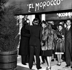 El Morocco Nightclub | Patrons stand outside the El Morocco in a 1943 photo. The night which ...