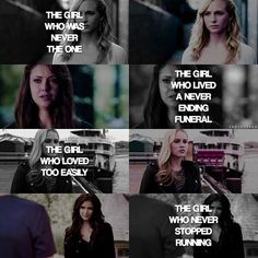 "[TVD girls] • Inspired by Harry Potter ""the boy who survive"".  • QOTD…"