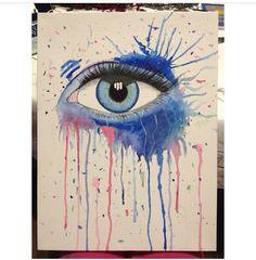 Watercolor Eye art