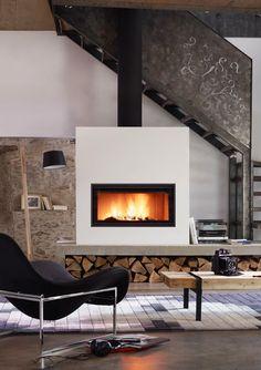 25 chemin es et po les bois pour vous chauffer cuisine interieur et visages - Rangement salon ontwerp ...