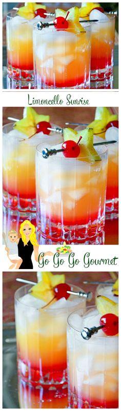 Limoncello Sunrise- a citrus explosion with a grenadine sinker! | Go Go Go Gourmet @gogogogourmet