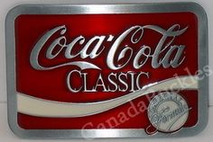 COCA COLA CLASSIC SOFTDRINK POP NEW BELT BUCKLE! Canada Buckles