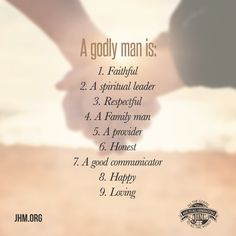 Do you know how to recognize a godly man? A godly man is a reflection of his Savior. He must have the mind of God. He must see what God sees. He must have the heart of God. He must be the hand of God. Godly Dating, Godly Marriage, Marriage Tips, Love And Marriage, Catholic Marriage, Marriage Thoughts, Healthy Marriage, Marriage Goals, Love Quotes