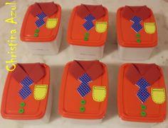 Potes de sorvete decorados para dia dos pais