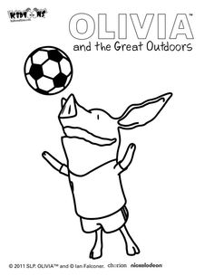 The little pig Olivia lives many adventures coloring page March is Reading Month Pinterest